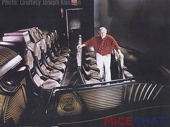 "Doug Trumbull on motion simulator base for ""In Search of the Obelisk"" (1993) VistaVision ridefilm at the Luxor Las Vegas."